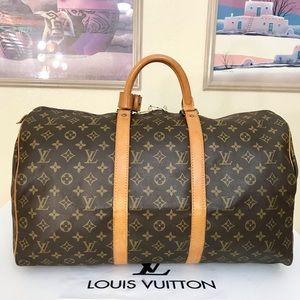 Louis Vuitton Monogram Keepall 50 Duffel Bag 💼